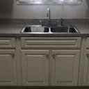 Kitchen counter resurfacing  & new sink installation in the Martha-Mary Social Hall (SACC thanks Mr. Joe Fleischer from